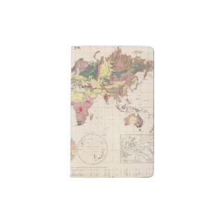 Geological structure of globe pocket moleskine notebook