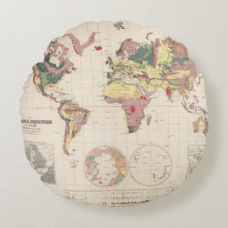 Geological structure of globe round pillow