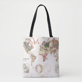 Geological structure of globe tote bag