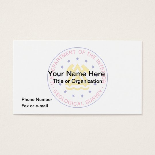 Geological Survey Business Card