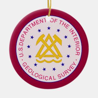 Geological Survey Custom Christmas Ornament