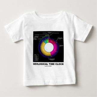 Geological Time Clock (Earth Science) Baby T-Shirt