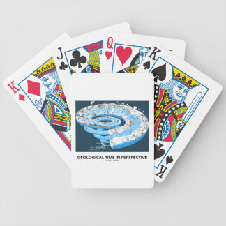 Geological Time In Perspective (Earth's History) Bicycle Playing Cards