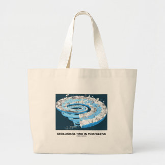 Geological Time In Perspective (Earth's History) Large Tote Bag
