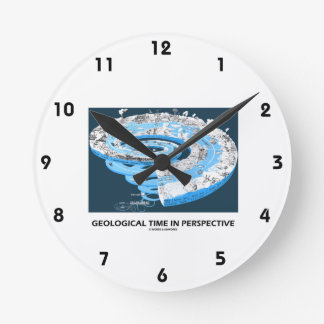 Geological Time In Perspective (Earth's History) Round Wallclocks