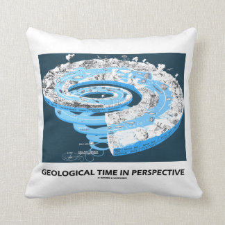Geological Time In Perspective (Earth's History) Throw Pillow