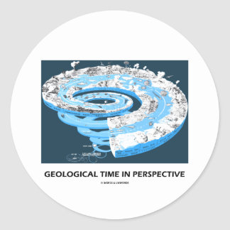 Geological Time In Perspective (Geological Age) Round Sticker