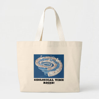 Geological Time Rocks! (Geological Age) Large Tote Bag