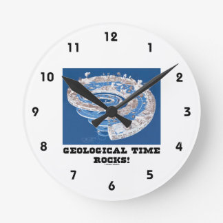 Geological Time Rocks! (Geological Age) Round Clock