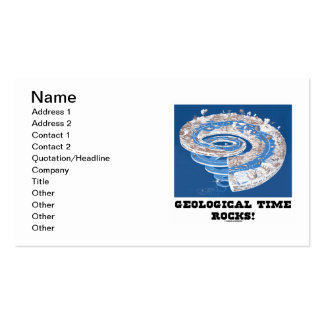 Geological Time Rocks! (Geological Age Spiral) Business Card