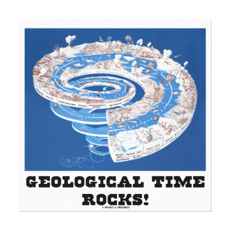 Geological Time Rocks! (Geological Age Spiral) Canvas Print