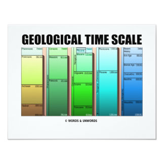 Geological Time Scale (Geological Age) 4.25x5.5 Paper Invitation Card