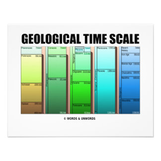 Geological Time Scale (Geological Age) Custom Announcement