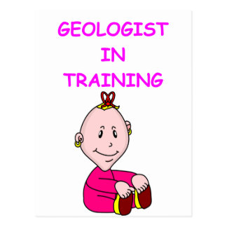 geologist baby postcard