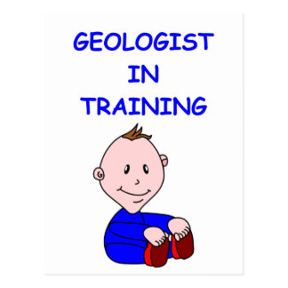 geologist baby post cards