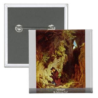 Geologist By Spitzweg Carl Pinback Button
