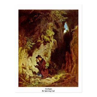 Geologist By Spitzweg Carl Postcard