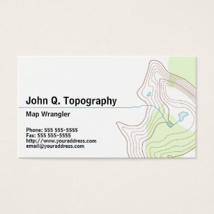 Geographic business cards templates zazzle geologist cartographer topographic map personal business card fbccfo Gallery