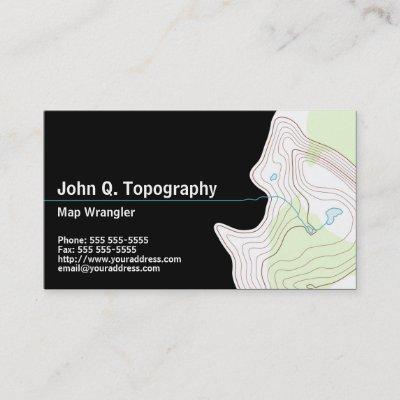 Geologist cartographer topographic map personal business card geologist cartographer topographic map personal business card zazzle colourmoves