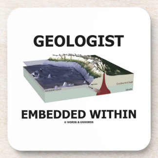 Geologist Embedded Within (Subduction Zone) Beverage Coaster
