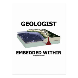 Geologist Embedded Within (Subduction Zone) Postcards