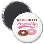 Geologist Gift (Donuts) 2 Inch Round Magnet