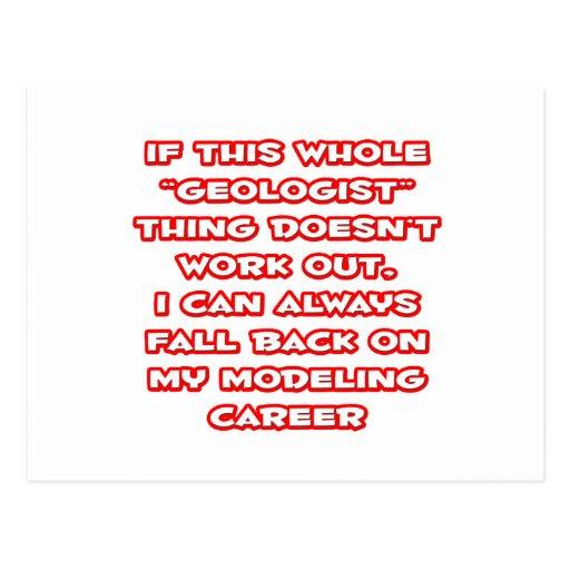Geologist Humor ... Modeling Career Post Cards