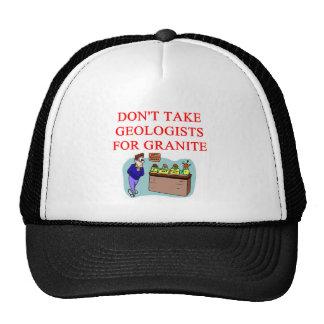 geologist joke mesh hat