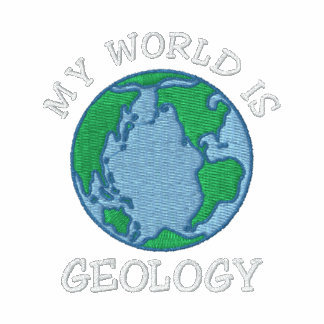 """Geologist """"My World Is Geology"""" Embroidered Embroidered Hooded Sweatshirt"""