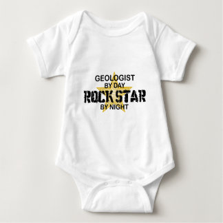 Geologist Rock Star by Night Baby Bodysuit