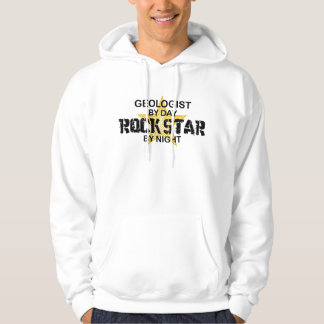 Geologist Rock Star by Night Hooded Pullover