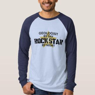 Geologist Rock Star by Night T Shirt