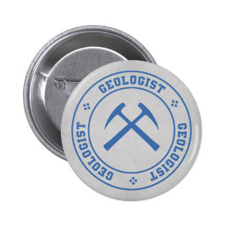 Geologist Seal Button Pin