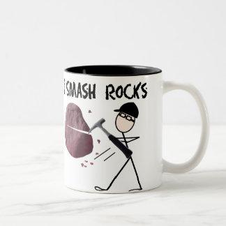 Geologist Stickman I Smash Rocks Coffee Mug