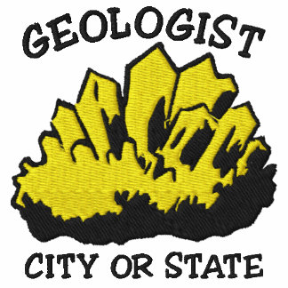 Geologist Type In Your City or State Embroidered Embroidered Hooded Sweatshirts