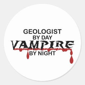 Geologist Vampire by Night Classic Round Sticker