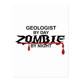 Geologist Zombie Postcard