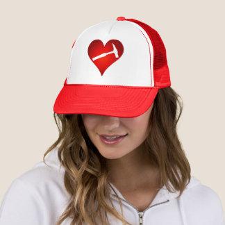 Geologist's Heart and Rock Hammer Trucker Hat