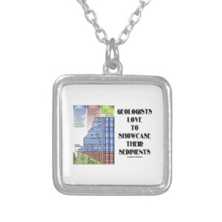 Geologists Love To Showcase Their Sediments Square Pendant Necklace