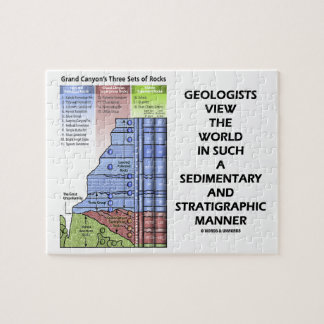 Geologists View World Sedimentary Stratigraphic Jigsaw Puzzle
