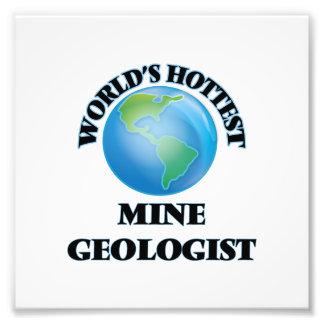 Geólogo de la mina más caliente del mundo fotografía