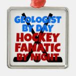 Geólogo del amante del hockey adornos