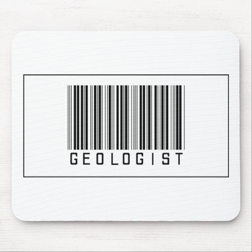 Geólogo del código de barras alfombrillas de ratón