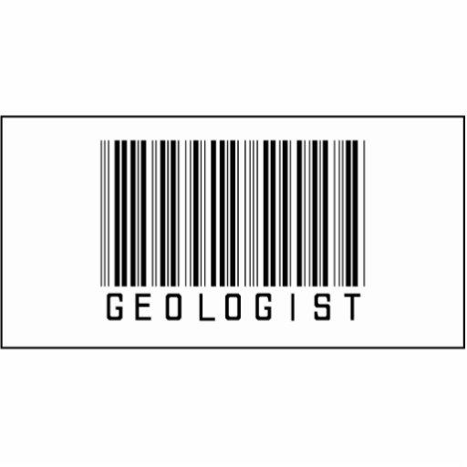 Geólogo del código de barras escultura fotográfica