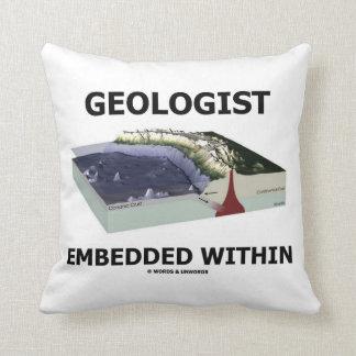 Geólogo encajado dentro (zona de la subducción) cojín