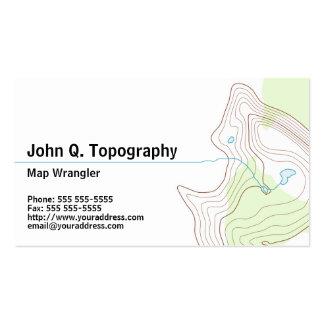Geólogo, mapa topográfico del cartógrafo personal tarjetas de visita