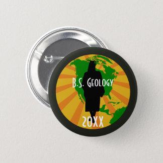 Geology Graduate Badge (Female) Pinback Button