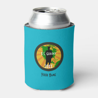 Geology Graduate Badge (Male) Can Cooler