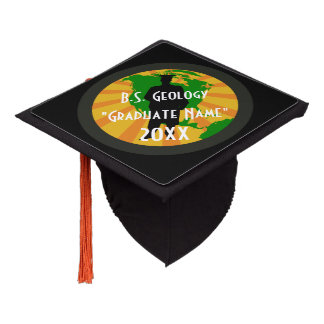 Geology Graduate Badge (Male) Graduation Cap Topper