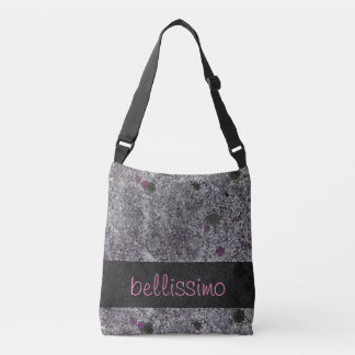 Geology Granite Gray with Pink Details any Text Tote Bag